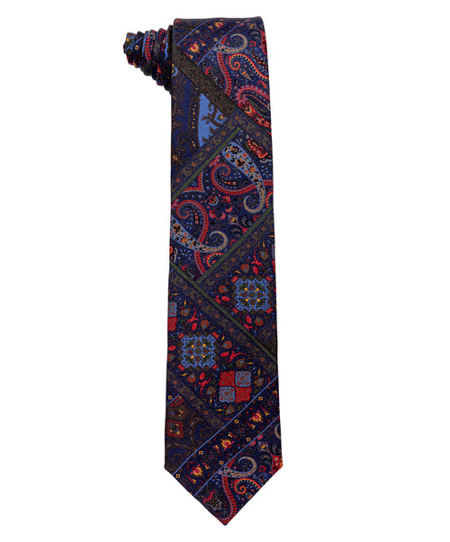 3832 1 Multicolored Geo Floral 8cm Tie