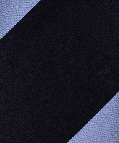 7701 1 Navy/Sky Blue Tie 8cm Wide Stripe