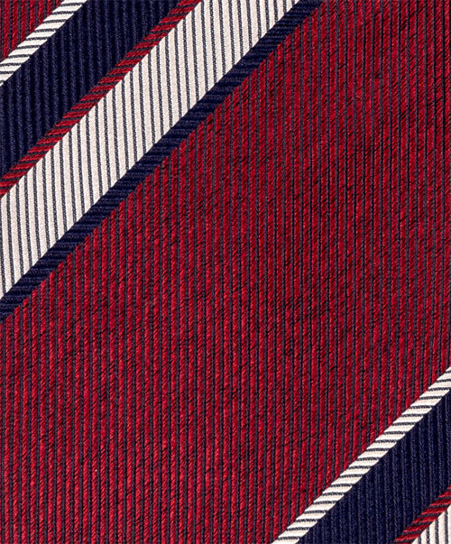6818 5 Red/Navy/White Tie 8cm Spread Out Stripe
