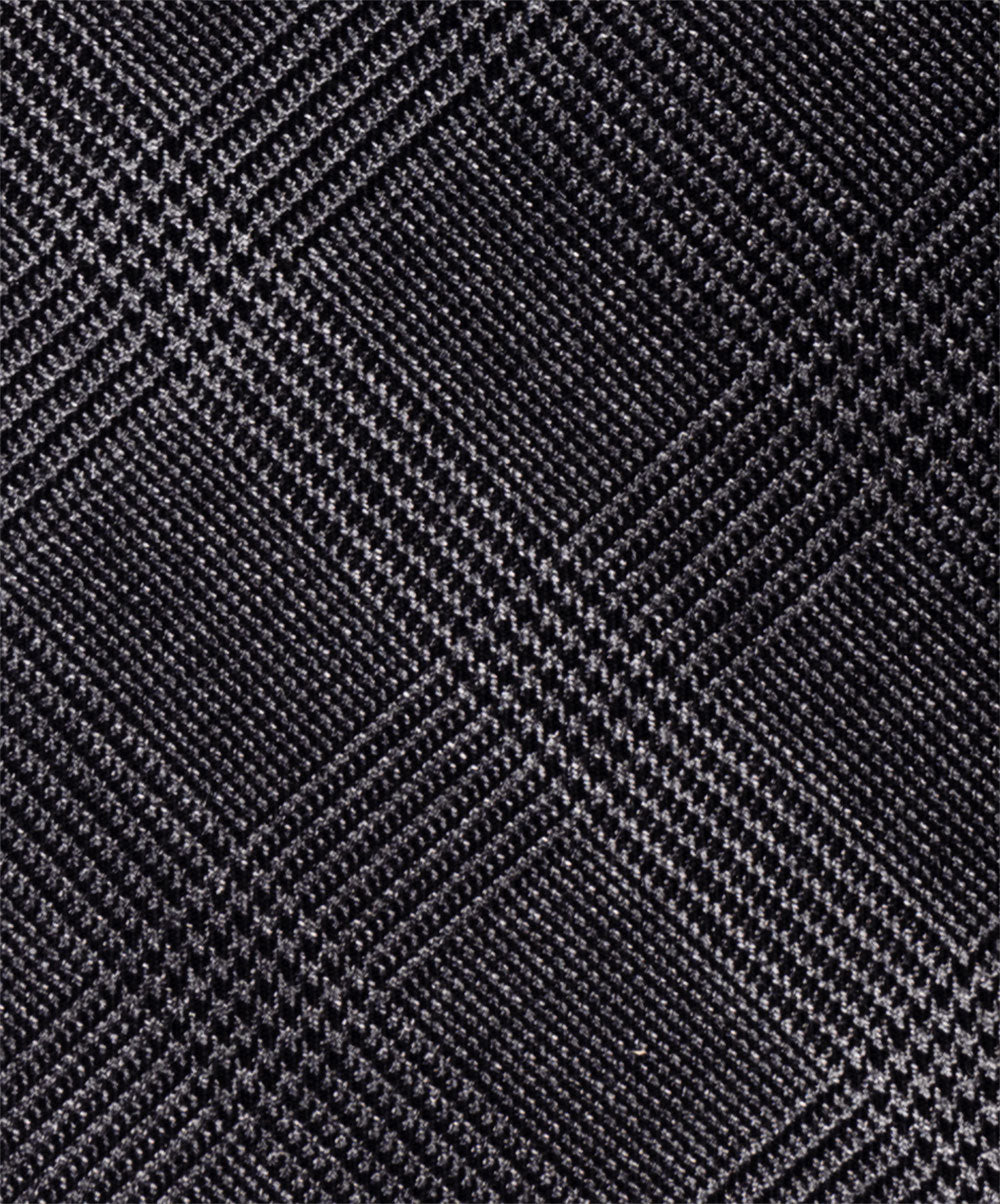 8301 3 Black/Grey Glen Check Tie 8cm