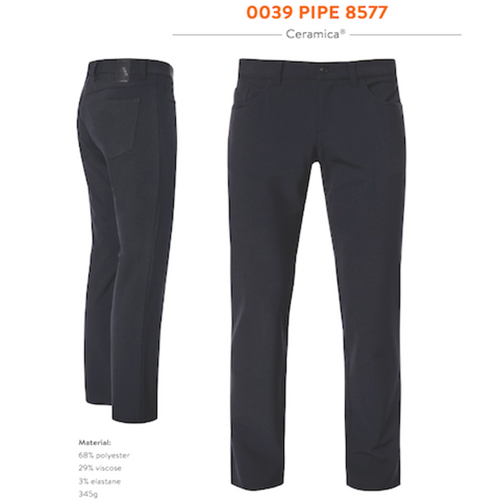 Pipe Dark Grey Ceramica Dress Pant