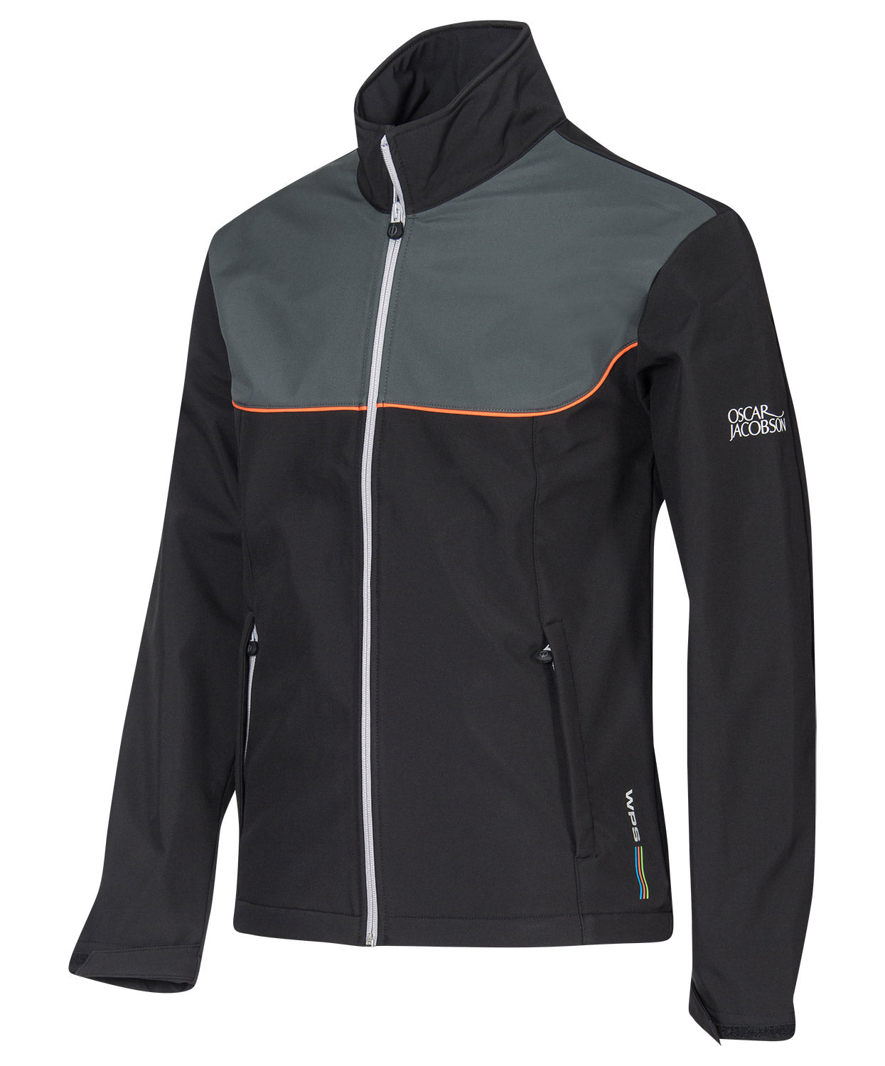Quentin Black/Orange Windproof Jacket
