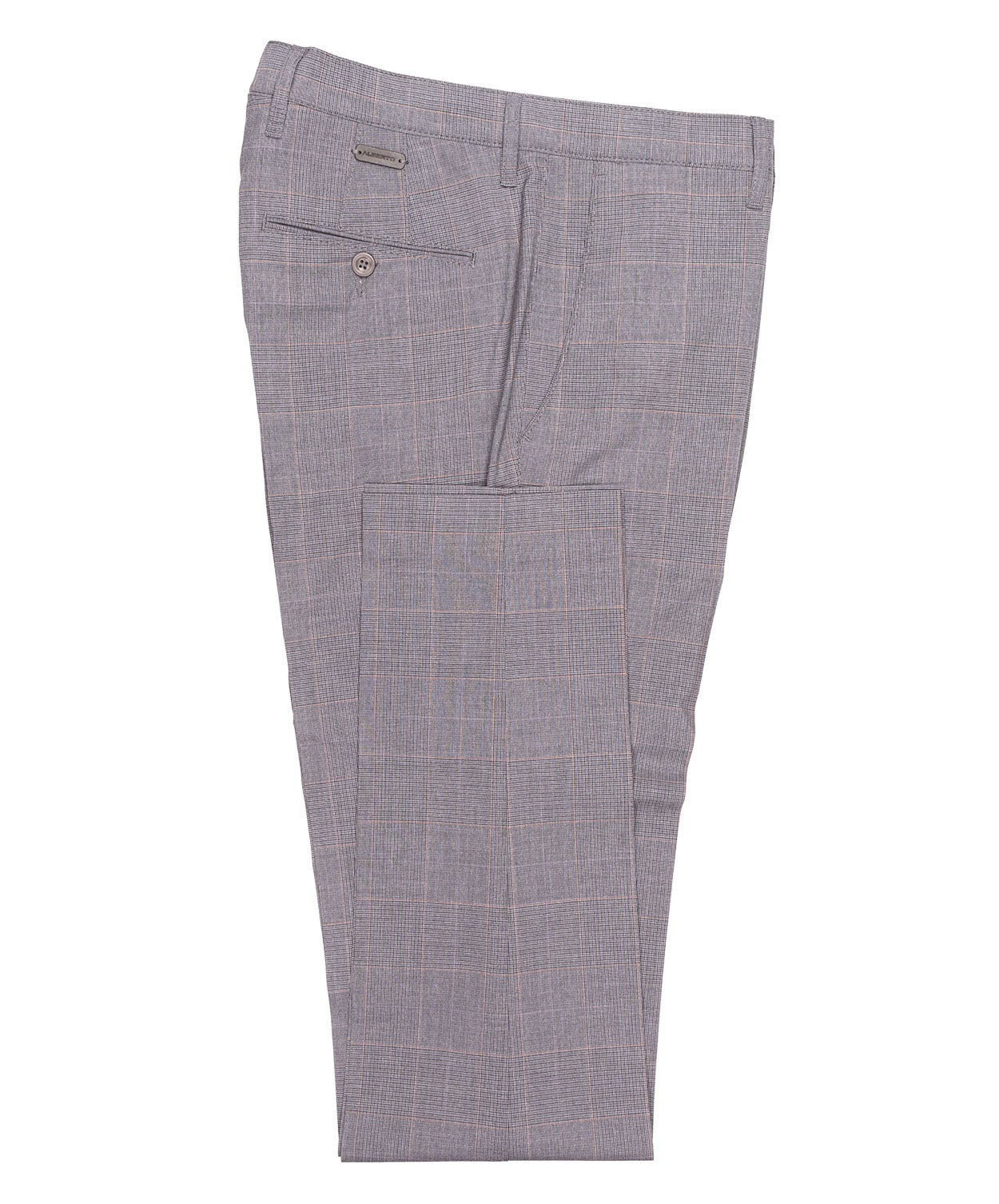 Rob Dark Grey Glen Check Dress Pant