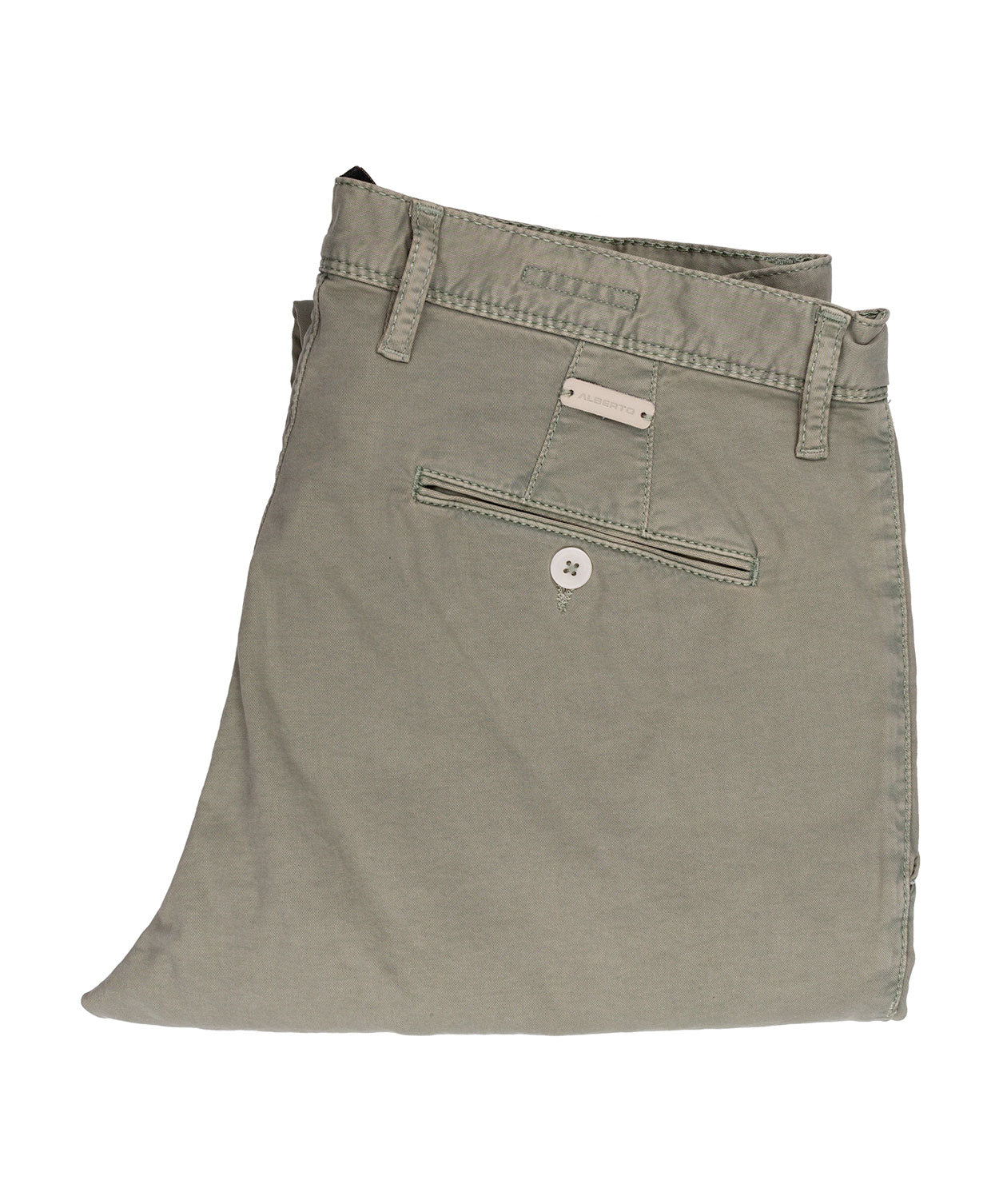 Rob Sage Green Casual Cotton Leisure Pant