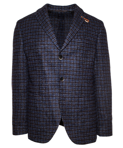Ryken Royal/Grey/Auburn Small Check Tweed Sport Jacket
