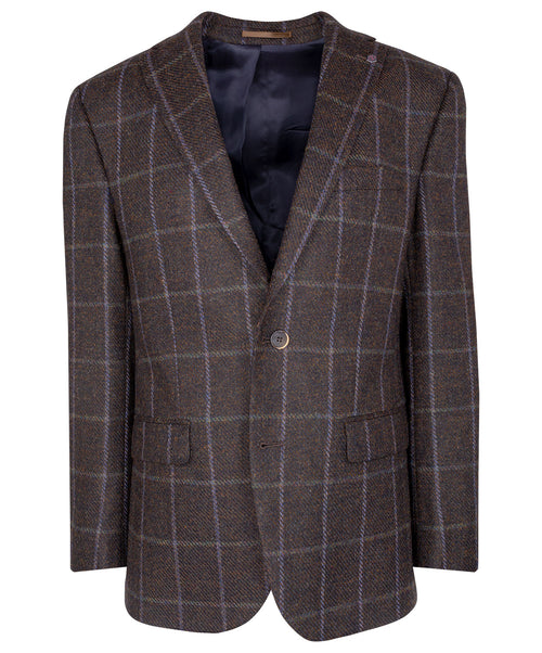 Oak/Blue Urban Tweed Window Pane Jacket