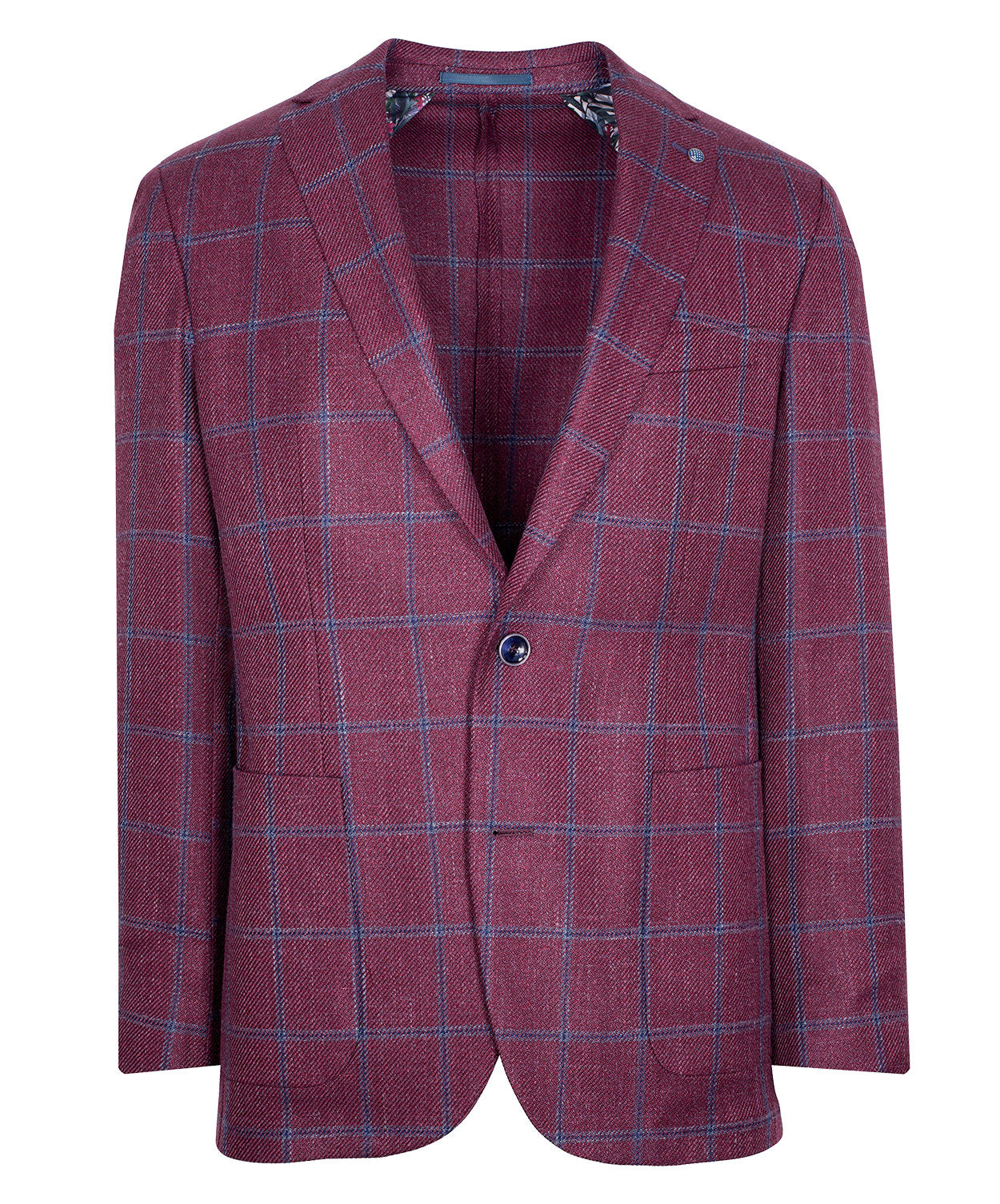 Red/Blue Window Pane Sport Jacket