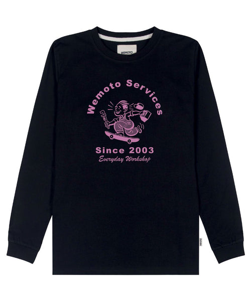 Service Black Long Sleeve Shirt