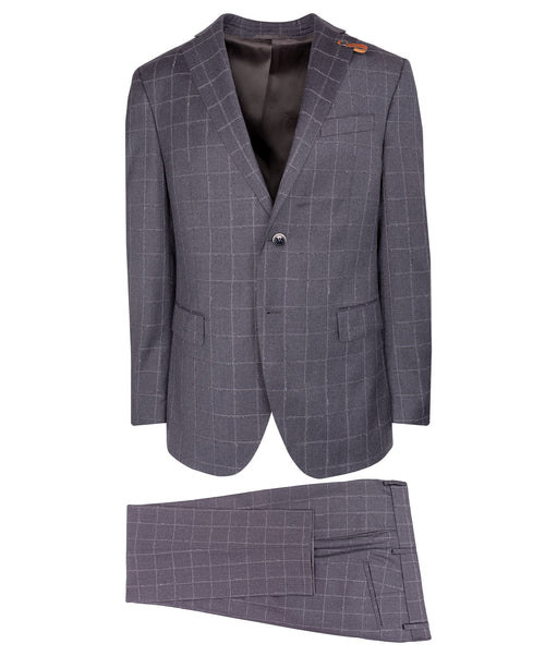 Slaydon/Smith Dark Grey Windowpane Suit