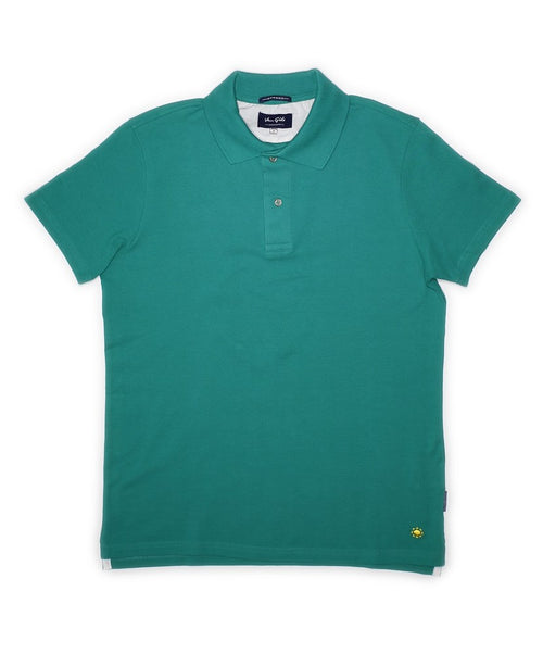 Green Solid Bright Piquet Polo