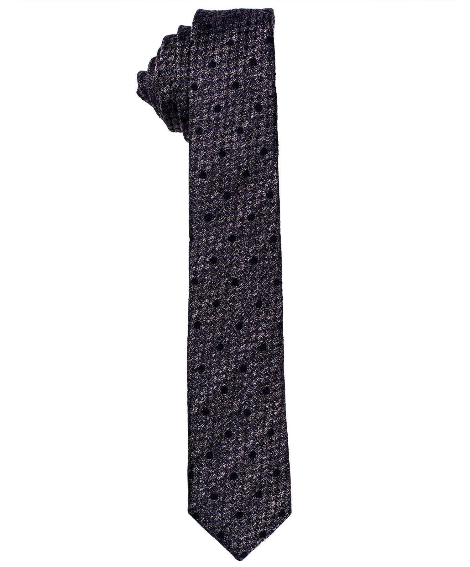 6.0cm Black/Grey Small Dot on Melange Ground  Tie