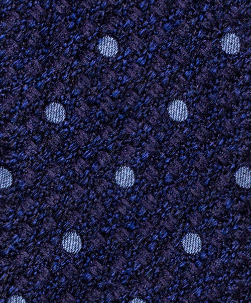 6.0cm Navy/Slate Small Dot on Melange Ground Tie