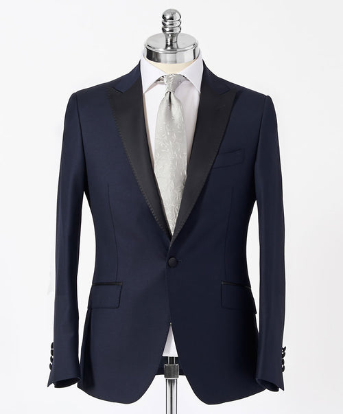 Taylor Navy Solid w Black Satin Peak Lapel Separates Tuxedo Jacket