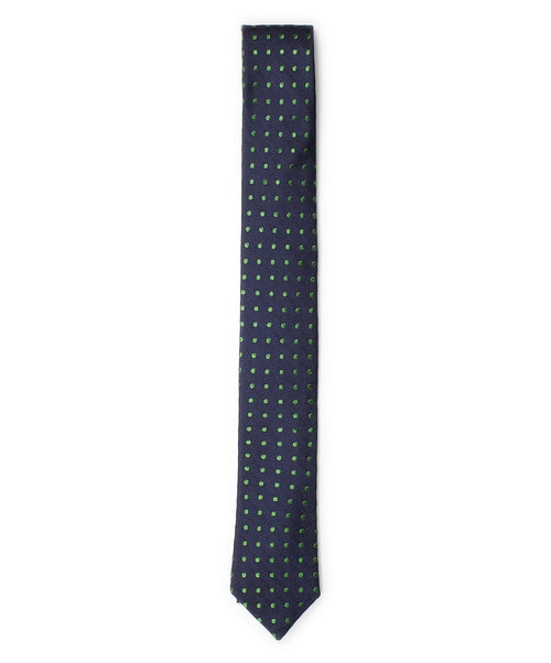 5.5cm Navy/Green Polka Dot Tie