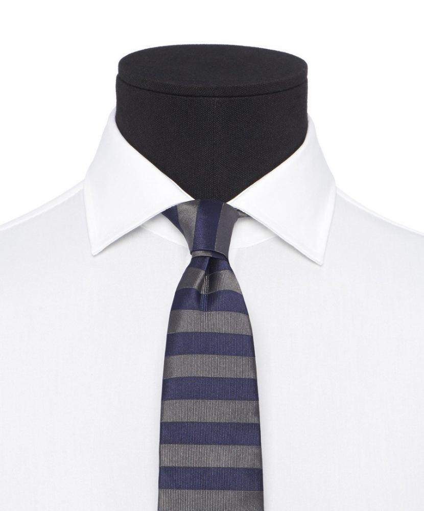 7.0cm Blue/Grey Horizontal Striped Tie