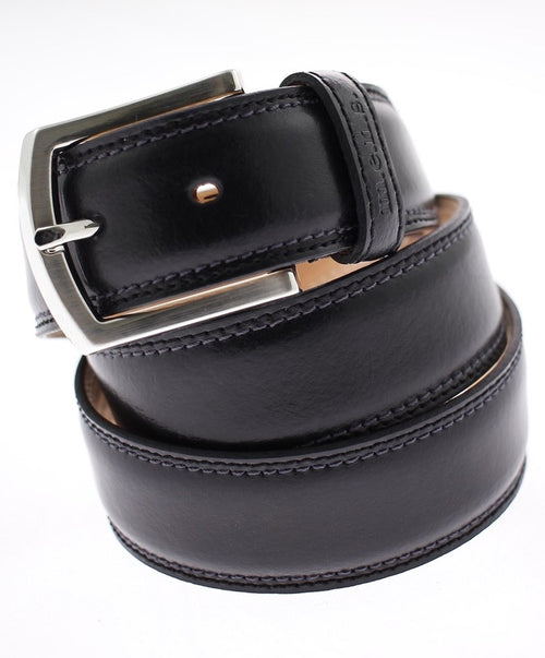 Black Edge Stitch Leisure Flexible Belt