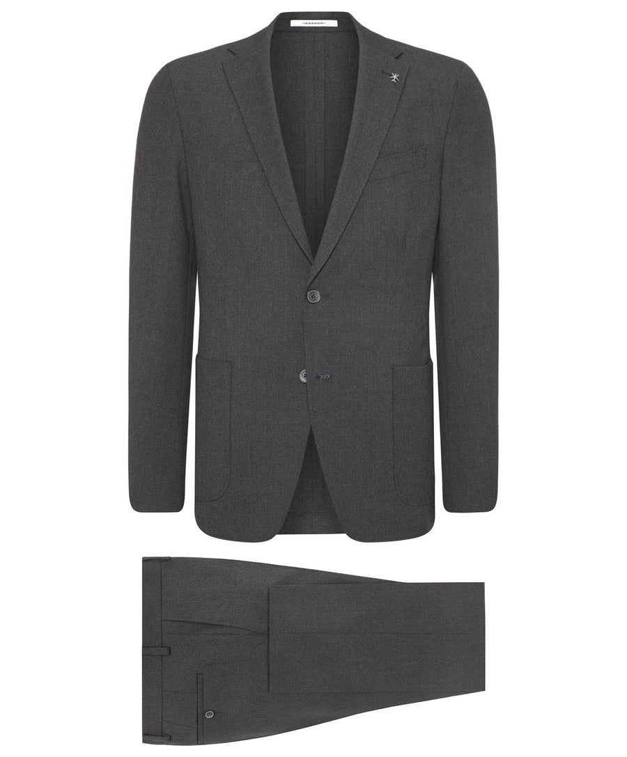 Travel Charcoal Textured Suit