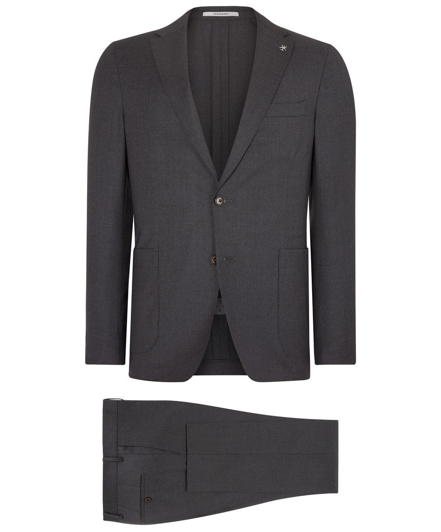 Travel Black Textured Suit