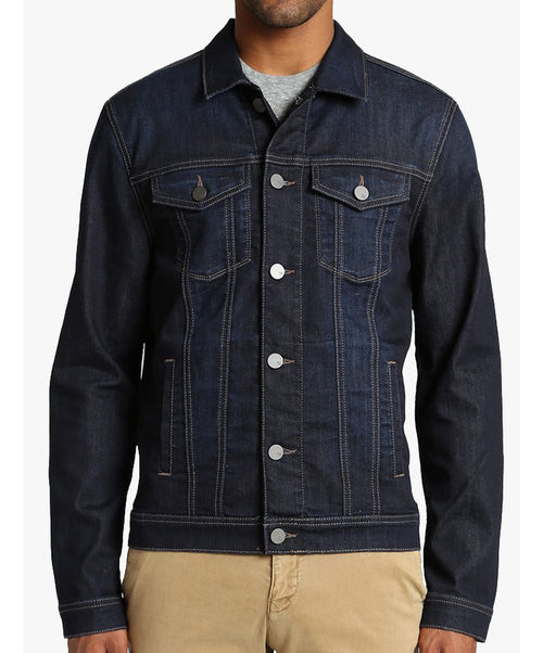 Travis Deep Comfort Dk Blue Clean Jean Jacket