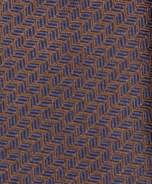 Deep Blue/Brown Small Ovals Tie