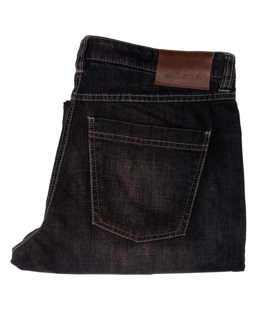 Carbon/Cognac Trim Denim