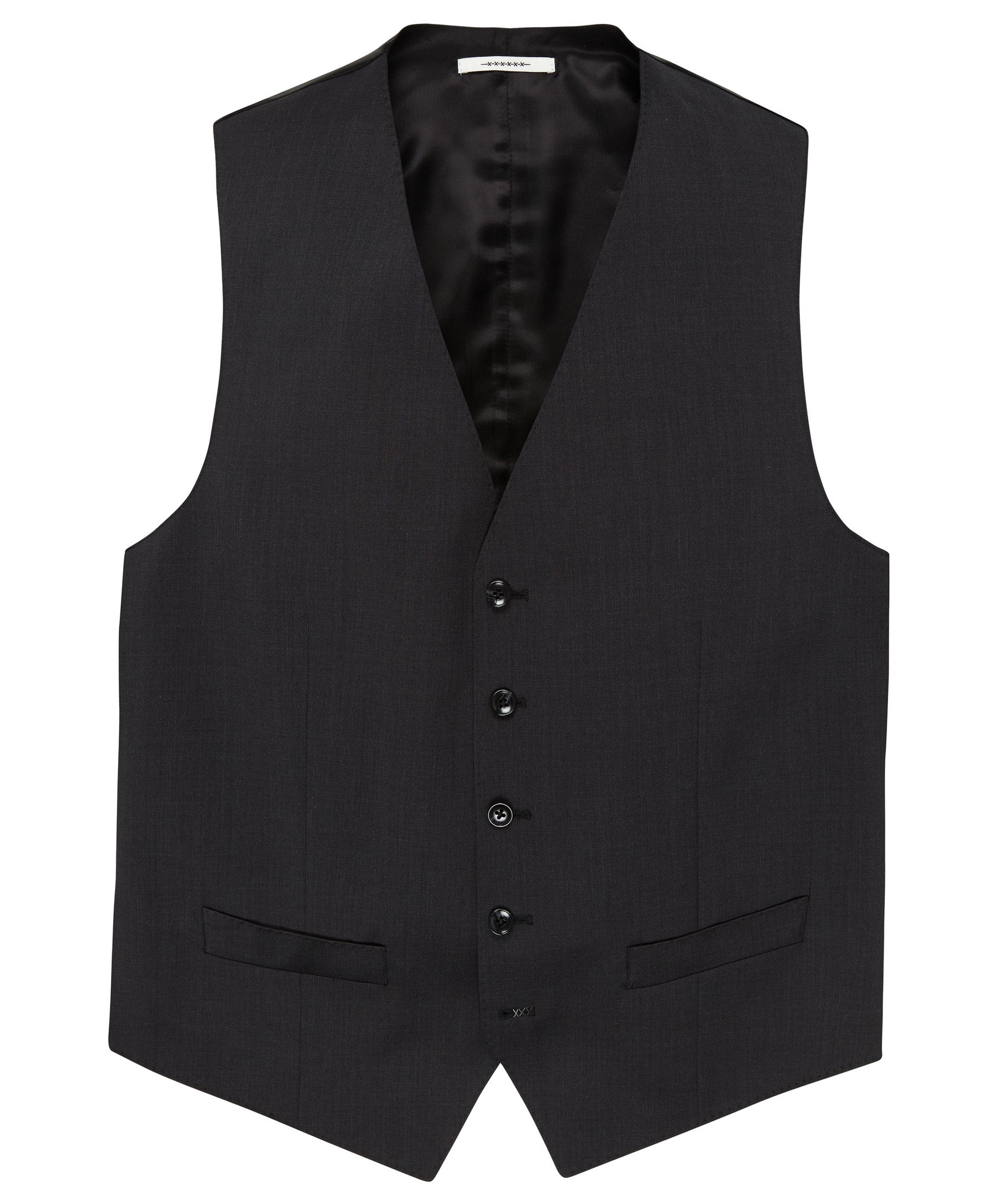 Evion Charcoal Solid Vest