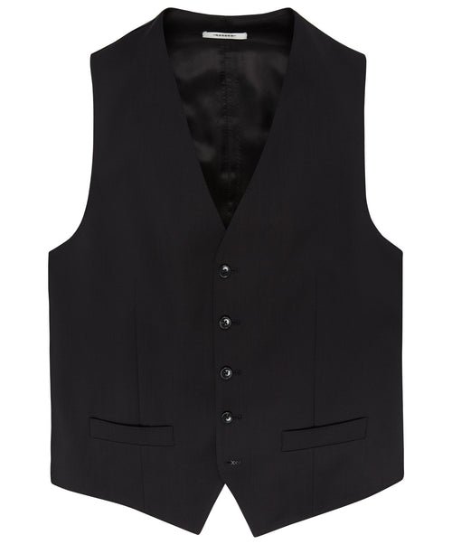 Evion Black Solid Vest