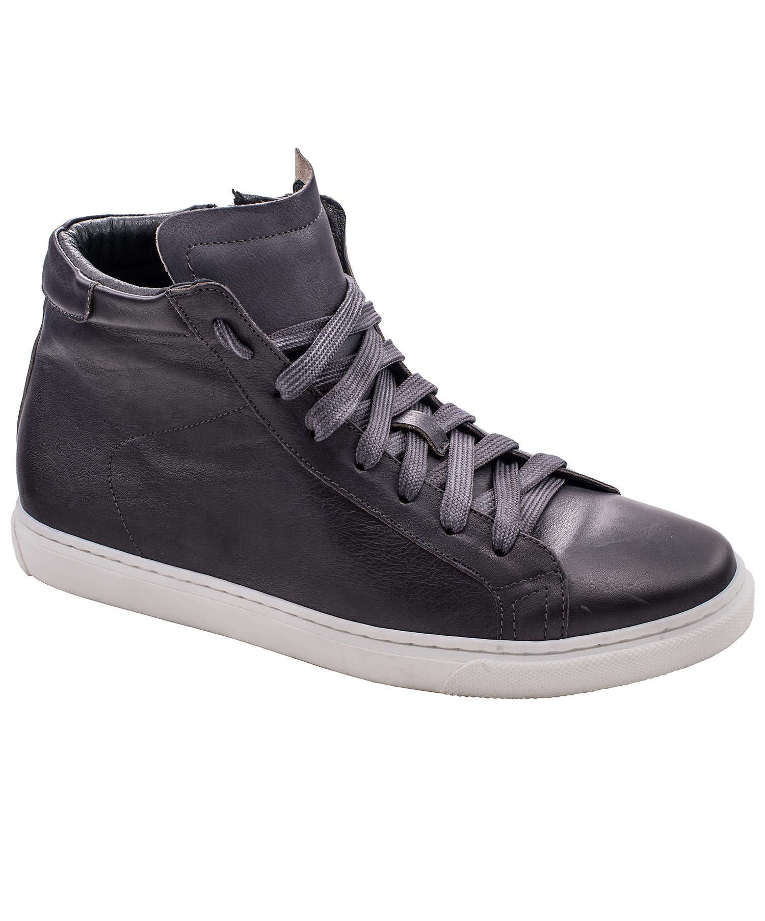 Vito Anthracite Leather High Top Shoes