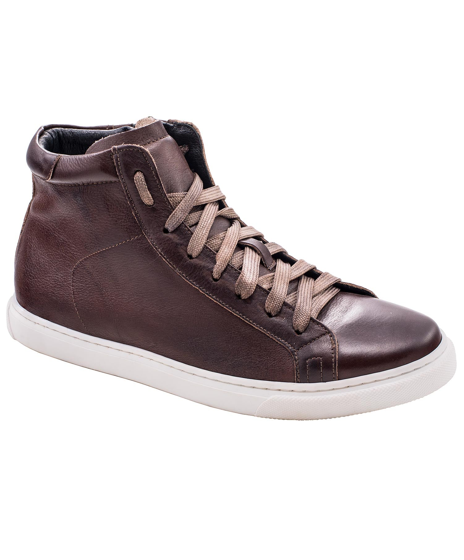Vito Tobacco Leather High Top Shoes