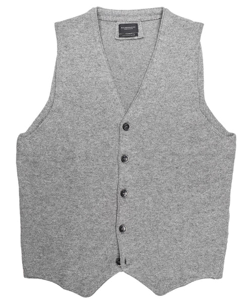 Walter Heather Grey Knitwear Vest
