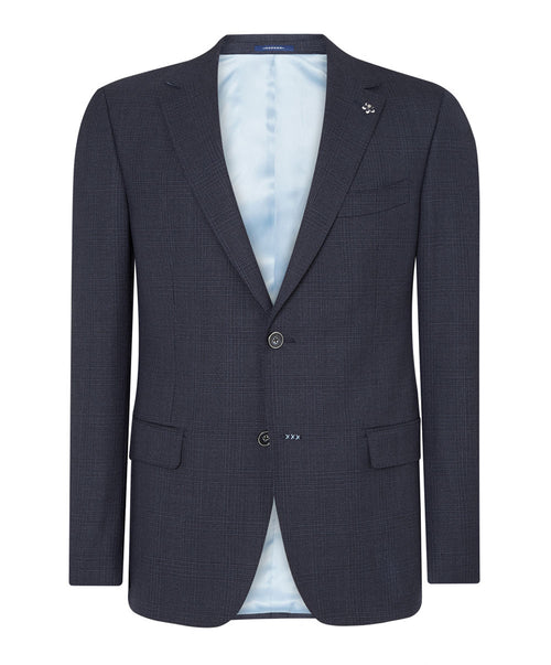 Zayn Split Blue Tonal Glen Check Separates Jacket