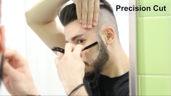 Beard Trimming: cheek line and neckline (2/2)