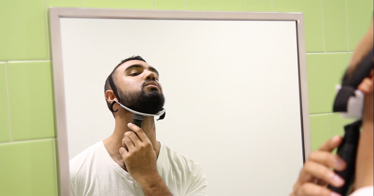 How to trim a perfect beard neckline in 60 sec - FlexShaper Beard Neckline Guide