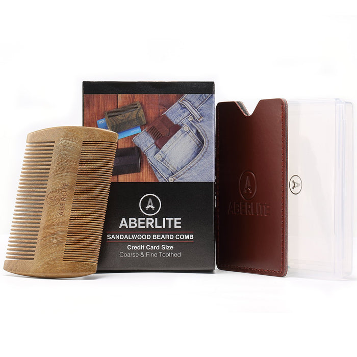 Aberlite Beard Straightening Comb Sandalwood (Green Sandalwood)