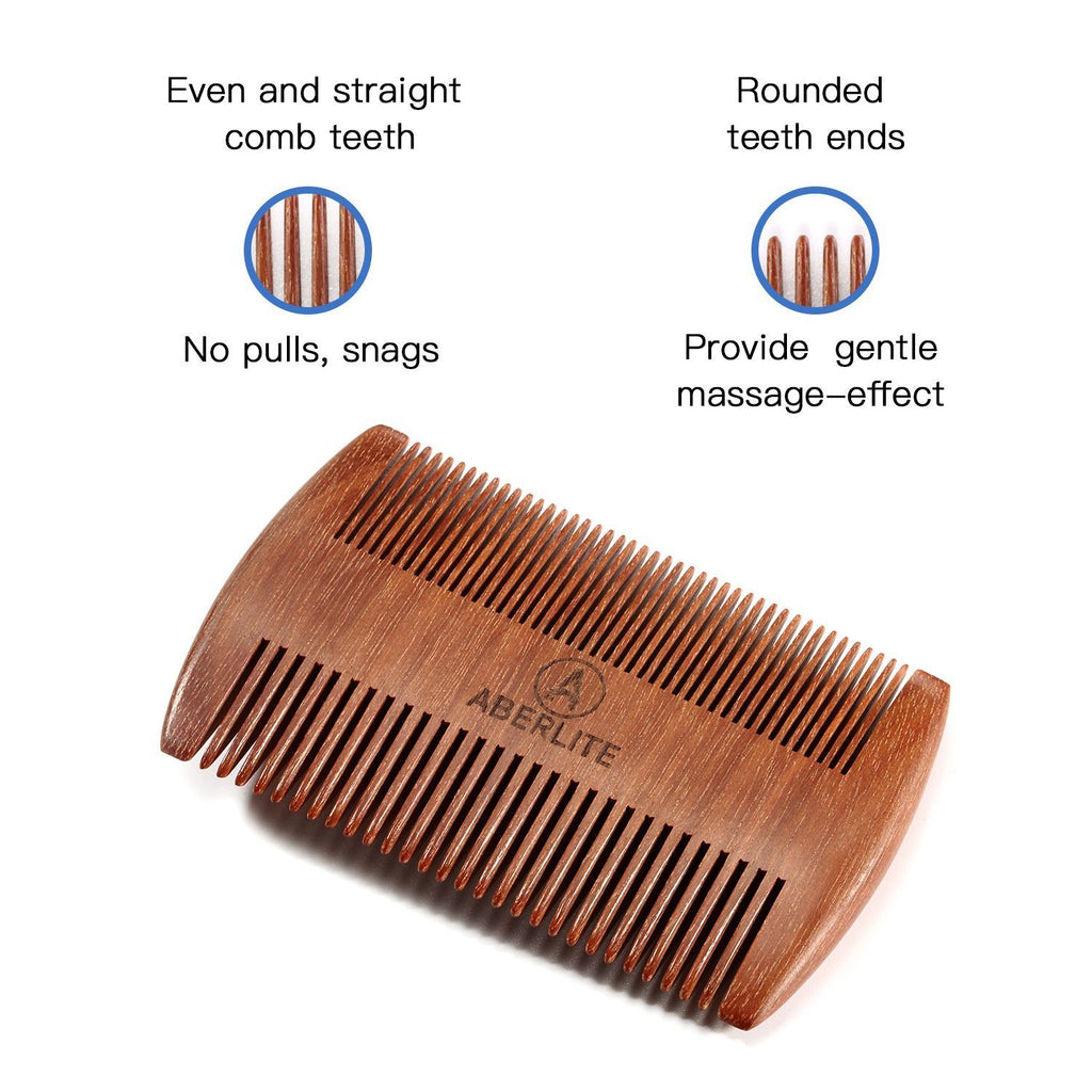 Aberlite Beard Straightening Comb Sandalwood (Red Sandalwood)