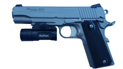 Railtac Rail Mounted Pistol Flashlight