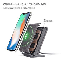 iOttie Ion Wireless Fast Charging Stand || Qi-Certified Charger 7.5W for iPhone Xs Max R 8 Plus 10W for Samsung S9 Note 9 | Includes USB C Cable & AC Adapter | Ash - Amaxeon