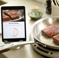 Hestan Cue Smart Cooking System Portable Countertop Induction Burner Cooktop + 11-Inch Smart Fry Pan with Bluetooth-Enabled Recipe App (Portable 2-Piece Cooktop System Includes Burner, Pan, and App for iOS and Android Free for Download) (Gen 2) -