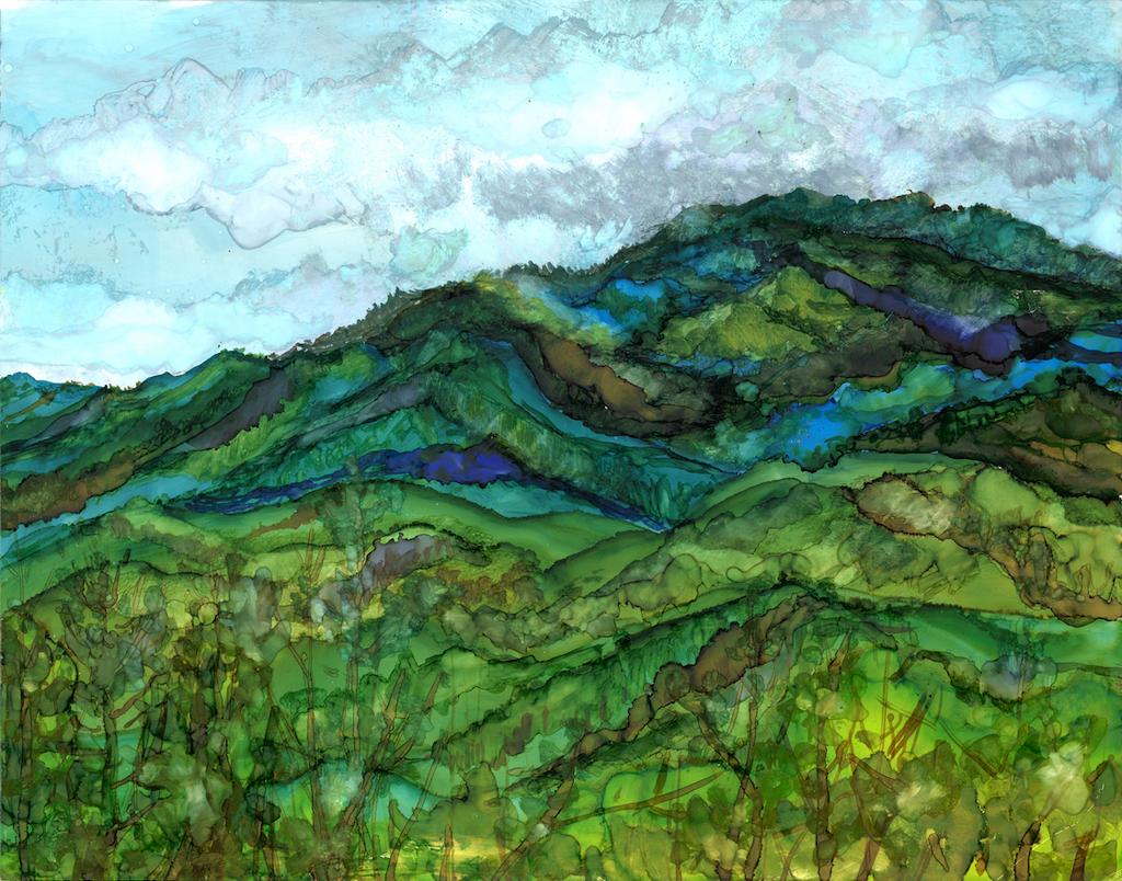 Mt. LeConte: Original Painting - Amaxeon