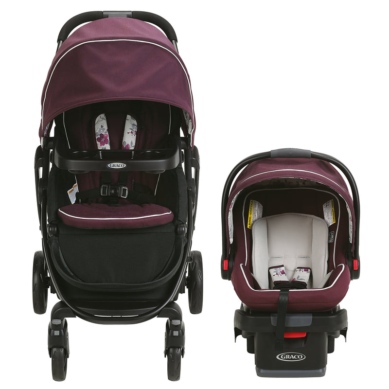 Graco Modes Travel System | Includes Modes Stroller and SnugRide SnugLock 35 Infant Car Seat, Nanette - Amaxeon