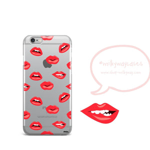 Lips iPhone & Samsung Clear Phone Case Cover - Amaxeon