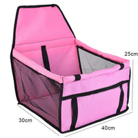 Pet Dog Car Carrier Bag Pad Waterproof Dog Seat Basket Safe Carry Cat Puppy Bag Travel Mesh Hanging Bags Car Seat Cover Fold -