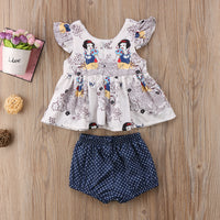 Newborn Baby Girl Clothes Set Summer Vest Tops - Amaxeon