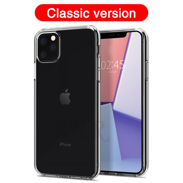 Luxury Shockproof Silicone Phone Case For iPhone 7 8 6 6S Plus X XS Max iphone 11 pro Max Cases Transparent Protection Back Cove - Amaxeon