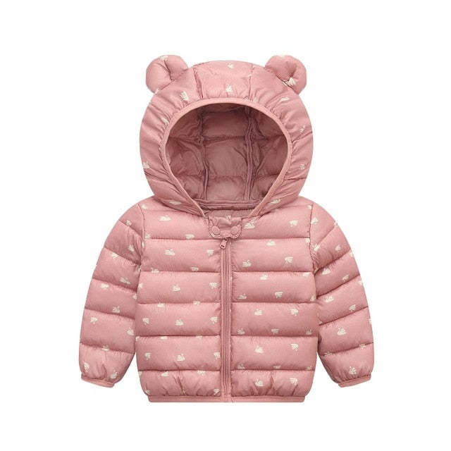 Waiwaibear New Baby Winter Coats Down Cotton  Coat  Jacket kids Baby Clothes Hooded infant  Down Jacket For Boys & Girls Clothes - Amaxeon