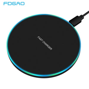 FDGAO 10W Fast Wireless Charger For Samsung Galaxy S10 S9/S9+ S8 Note 9 USB Qi Charging Pad for iPhone 11 Pro XS Max XR X 8 Plus -