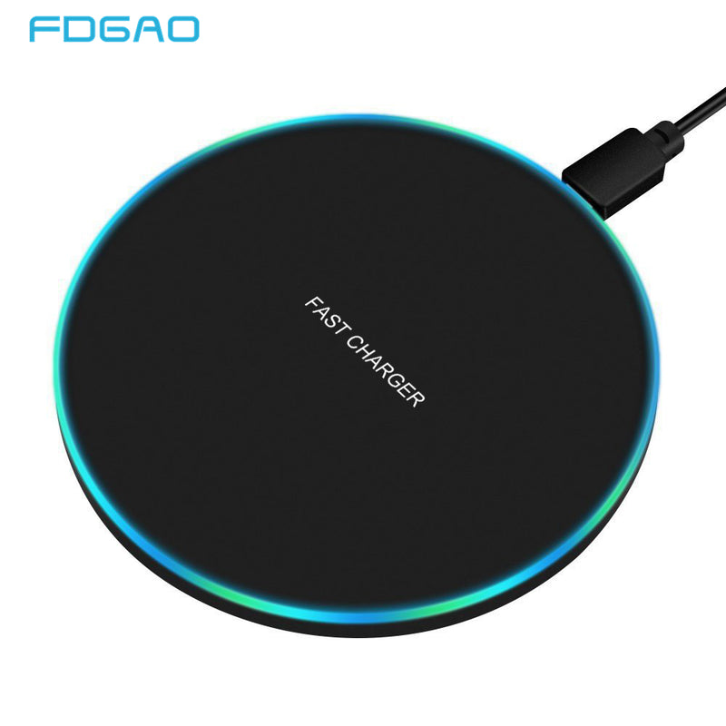 FDGAO 10W Fast Wireless Charger For Samsung Galaxy S10 S9/S9+ S8 Note 9 USB Qi Charging Pad for iPhone 11 Pro XS Max XR X 8 Plus - Amaxeon