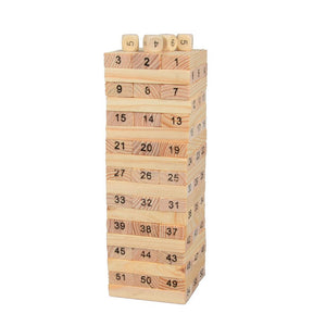 OCDAY 54pcs Figure Children Kids Wooden Building Blocks Toys Domino Stacker Baby Early Educational Play Game Toy Set New Arrival - Amaxeon