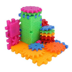 81 Pieces Baby Plastic 3D DIY Building Blocks Toy Creative Magic Educational Mosaic Toy Gear Block Toys for Children Gift - Amaxeon