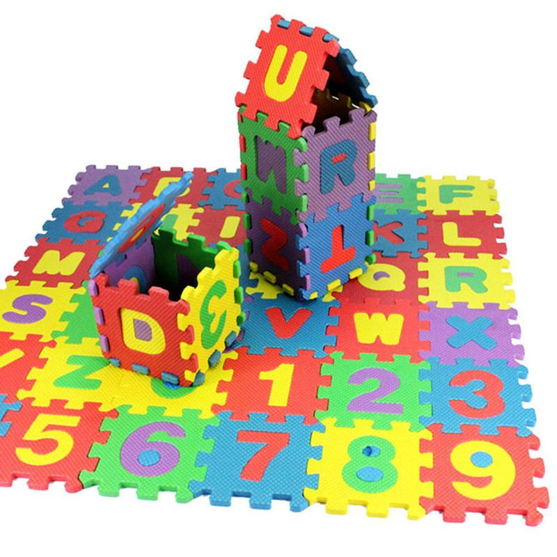 36 Pcs/Set Funny Cute Baby EVA Foam Play Puzzle Mat Number Interlocking Exercise Tiles Pad Kids Infant Child Fashion Funny Toy - Amaxeon